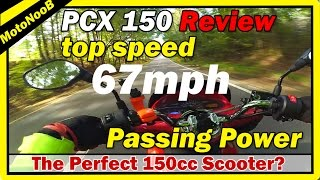3. Honda PCX 150 Review | PCX150 Top Speed (MPH) + Passing Power