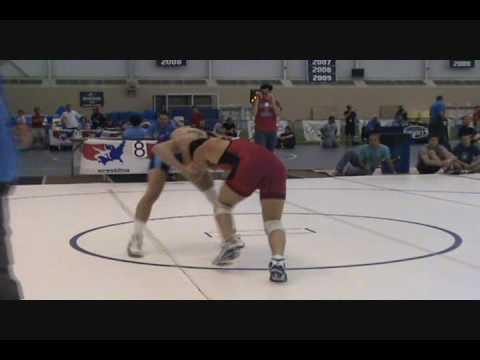 University Nationals Freestyle 60 kg: Jordan Oliver pinned Tyler Saltsman