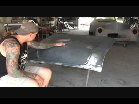 1955 Buick Century-DIY Automotive Restoration-Sanding With A Scotch Brite Pad