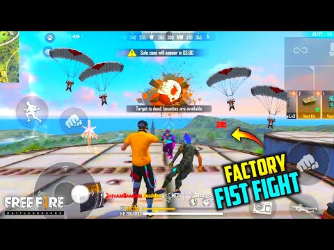 FREE FIRE FACTORY ROOF FIST FIGHT - FF KING OF FACTORY CLASH SQUAD FUNNY GAMEPLAY_
