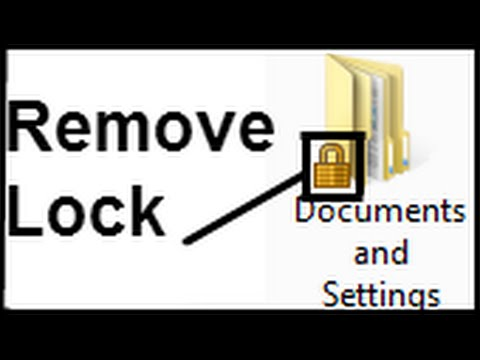 , title : 'How to remove lock from a folder'