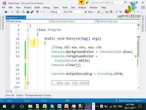 VD02 - Hướng dẫn sử dụng Visual Studio - P2