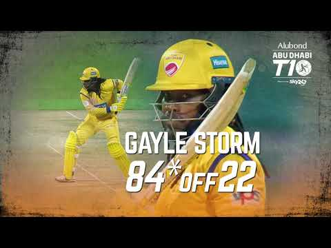 Gayle storm in Abu Dhabi T10 I 84* off 22 balls I 12 balls T10 Fifty I Day 6 I Team Abu Dhabi