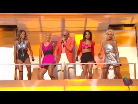 Pitbull Feat G.R.L. - Wild Wild Love (Live @ iHeart Music Awards 01/05/2014)