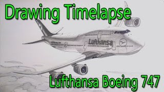 Video Lufthansa Boeing 747 - Time Lapse Drawing MP3, 3GP, MP4, WEBM, AVI, FLV Juni 2018