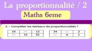 Maths 6ème - La proportionnalité 2 Exercice 3