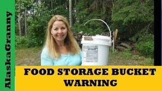 Food Storage 5 Gallon Buckets is a great way to store food and supplies.  Food Grade Buckets and Lids  http://amzn.to/2u82ti5  Most bakeries will give away empty buckets if you ask.  Animals chewed through my bucket!  Be sure to clean them out well when you get them.  Store food storage buckets and all emergency supplies carefully.  Emergency Food Storage Buckets are not too thick or strong for animals to chew through.  Check your long term food storage or survival food to make sure it is still safe and good to eat. ★☆★ SUBSCRIBE TO ME ON YOUTUBE: ★☆★https://www.youtube.com/c/alaskagranny?sub_confirmation=1 ★☆★ FOLLOW ME BELOW: ★☆★Blog: http://www.alaskagranny.com/everyday-preps/★☆★ RECOMMENDED RESOURCES: ★☆★Food Grade Buckets and Lids  http://amzn.to/2u82ti5Gamma Lids  http://amzn.to/2kxlyD3 Emergency Food Bucket  http://amzn.to/2fra3OV