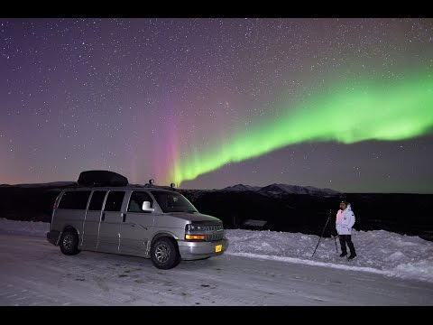 Aurora Borealis Timelapse Video