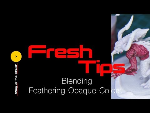 Fresh Tips Blending (feathering opaque color) tutorial