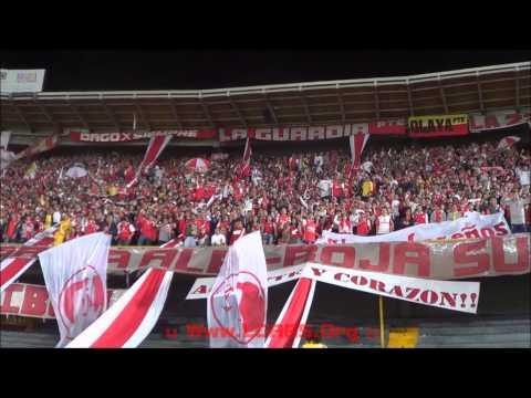 La Guardia Pte - IND SANTA FE Vs Itaguí - Liga Postobón Apertura 2014 - - La Guardia Albi Roja Sur - Independiente Santa Fe