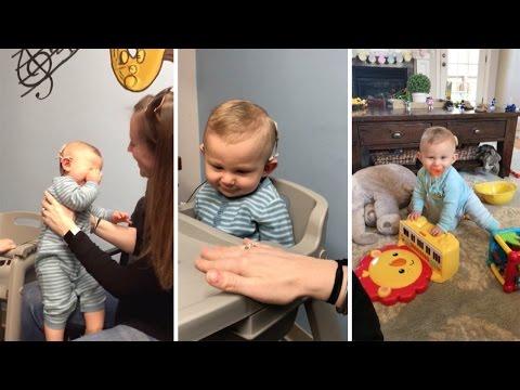 這位一出生就聽不到的10個月大寶寶「第一次聽到媽媽的聲音」,他當場淚崩的反應讓大家都跟著掉淚!