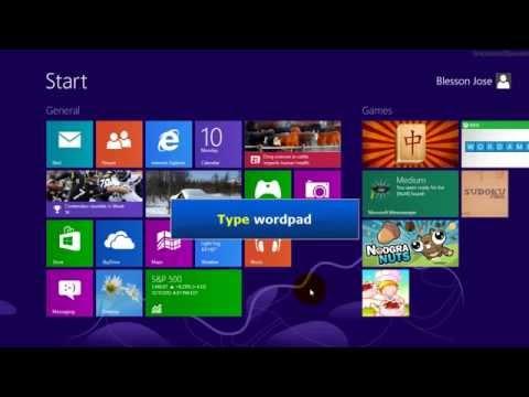 comment trouver word sur windows 8