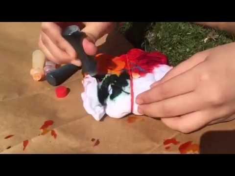 DIY food coloring tie-dye shirts