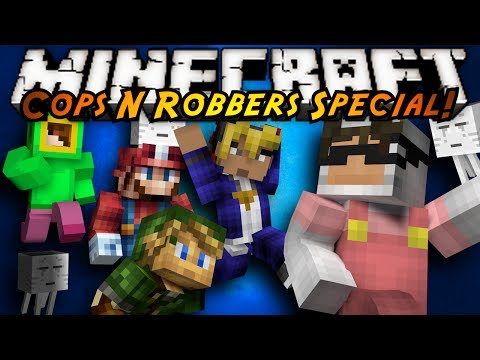 Minecraft Mini-Game : COPS N ROBBERS! (VIDEO GAME SPECIAL!)