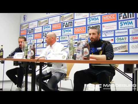 Video: Pressekonferenz - 1. FC Magdeburg gegen 1. FC Lokomotive Leipzig 3:2 (1:2)