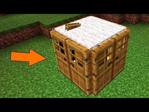Как Построить По-настоящему Компактный Дом в Майнкрафт?