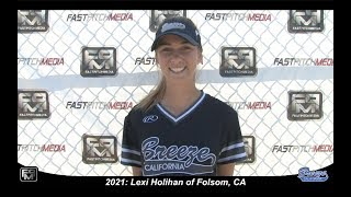 Committed to SF State - 2021 Lexi Holihan Pitcher and Third Base Softball Skills Video - Ca Breeze