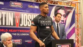 Anthony Joshua vs Martin - Final Press Conference