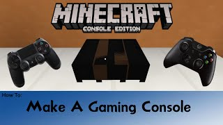 Minecraft: How To Make A Game Console PS4/XBOX
