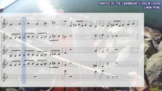 Pirates of the Caribbean (5 Violin Cover w/ Sheet Music)
