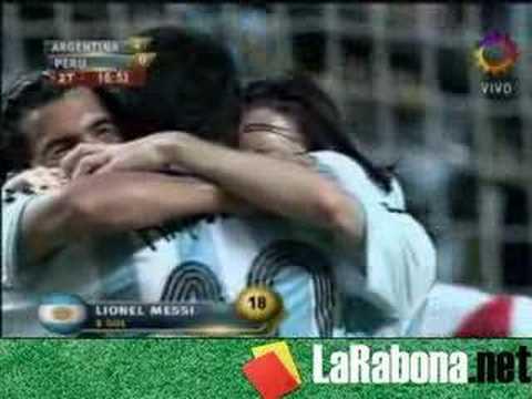 Video Juan Roman Riquelme Argentina 4 Peru 0