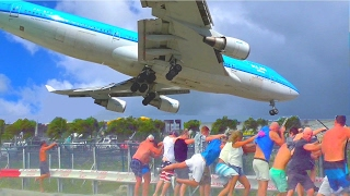 It shows the KLM Boing-747 arrival at 13:35 the taxi way, the 1 hour quick stopover and then the departure at 14:40 with an amazing jet-blast at the fence on ...