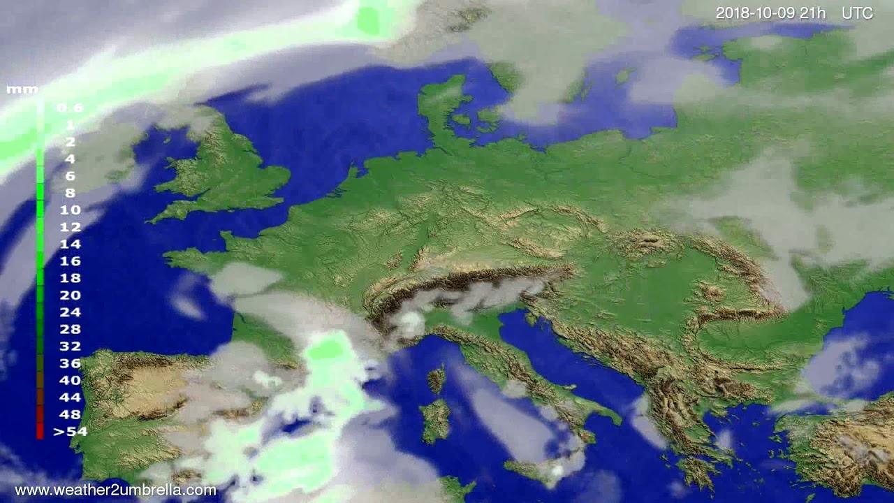 Precipitation forecast Europe 2018-10-06