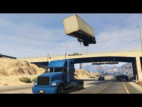 GTA 5 - Semi Truck Stunt with C4 Nuke Mod - Thời lượng: 1:32.