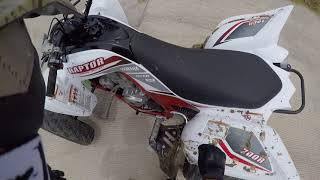 6. Riding thru fields pt 2 2018 Yamaha Raptor 700R SE