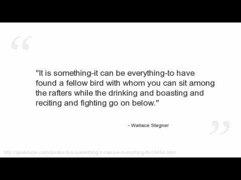 Vidéo de Wallace Stegner