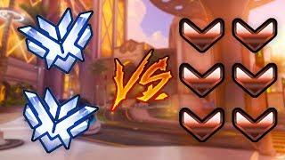2 Top 500 Players VS 6 BRONZE! - Who Will Win? - Overwatch VS
