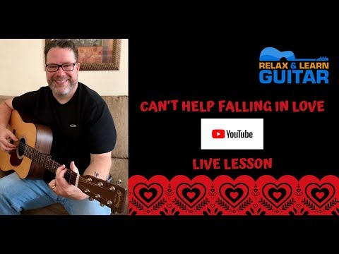 Can't Help Falling in Love-Fingerstyle on Acoustic Guitar