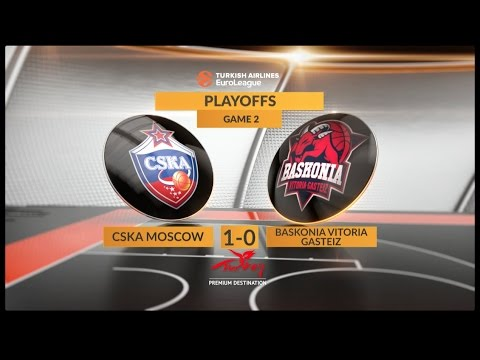 EuroLeague Highlights Playoffs 2: CSKA Moscow 84-82 Baskonia Vitoria Gasteiz