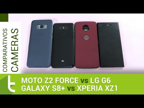 Moto Z2 Force, Xperia XZ1, Galaxy S8+ e G6  Comparativo de câmeras do TudoCelular