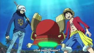 Chopper vs Luffy y Law-One Piece