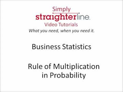 Was ist die Regel der Multiplikation in Probability - Business Statistics Tipps