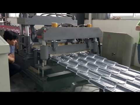 Metal tile roll forming machine   Believe Industry Company