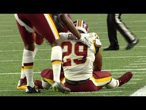 Rookie Derrius Guice of the Washington Redskins tore the ACL in his debut will miss the 2018 season