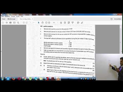 De minimis Test Question | ACCA P6 UK | AccountancyTube.com