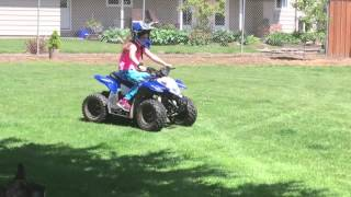 8. 8 Year Old Girl Riding Polaris Outlaw 50 ATV