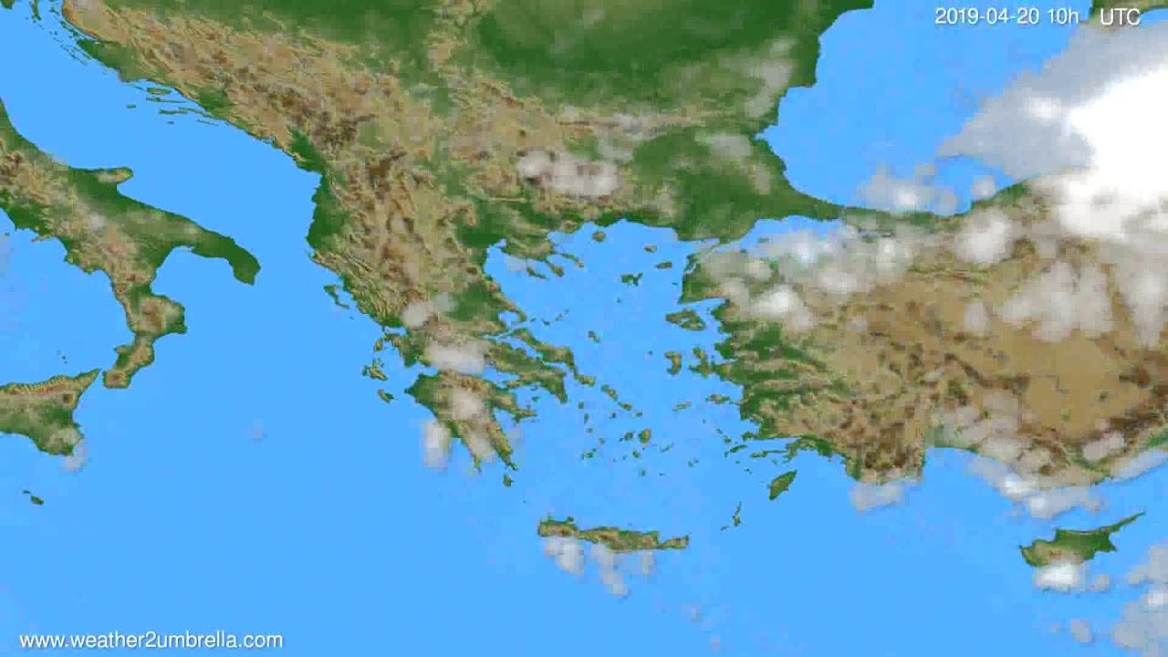 Cloud forecast Greece // modelrun: 12h UTC 2019-04-17
