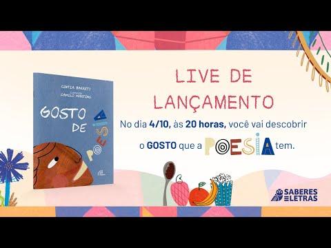 LANÇAMENTO DO LIVRO GOSTO DE POESIA DE CINTIA BARRETO E CAMILO MARTINS - EDITORA PAULINAS - 04-10-2021