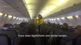 Consignes de securité sur Kulula Airways - YouTube