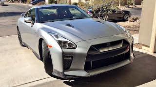 My friend just bought a silver 2017 Nissan GT-R R35. I take a quick look at the car and the interior. Obviously, the GT-R has 565hp out of a twin turbo V6 engine. Check out his channel: https://www.youtube.com/user/CONFIGTGTR