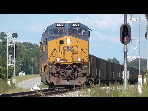 [3J] 11 Trains: Ten Thousands of Tons of Steel, Cargo, Coal, Athens-Elberton GA 08/15/2016 ©mbmars01
