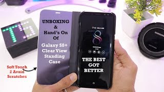 This video shows the Unboxing ofGalaxy S8 Plus Clear View STANDING CASEAlso see for identifying the cheap duplicate cases....U can identify yourself after seeing this video...Buy Genuine Case by clicking the below linkSellercellphonebadloGarima Arorahttp://www.ebay.in/itm/292144188608?_trksid=p2057872.m2749.l2649&ssPageName=STRK%3AMEBIDX%3AIT
