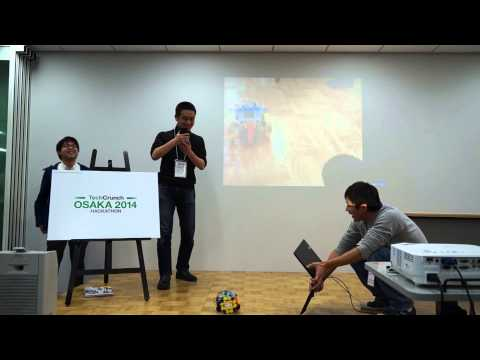 interFACEのデモ(TechCrunch Hackathon Osaka 2014)
