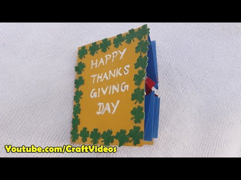 Thank you card ideas for Thanksgiving Day
