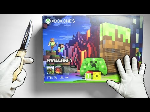 BEST XBOX ONE S LIMITED EDITION? Unboxing Minecraft Console & Fortnite Battle Royale Gameplay