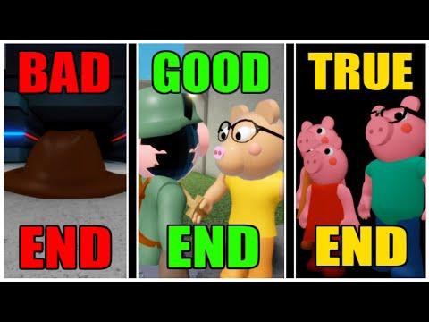 Piggy - CHAPTER 12 - All 3 Endings! (GOOD, TRUE, BAD) [ROBLOX]